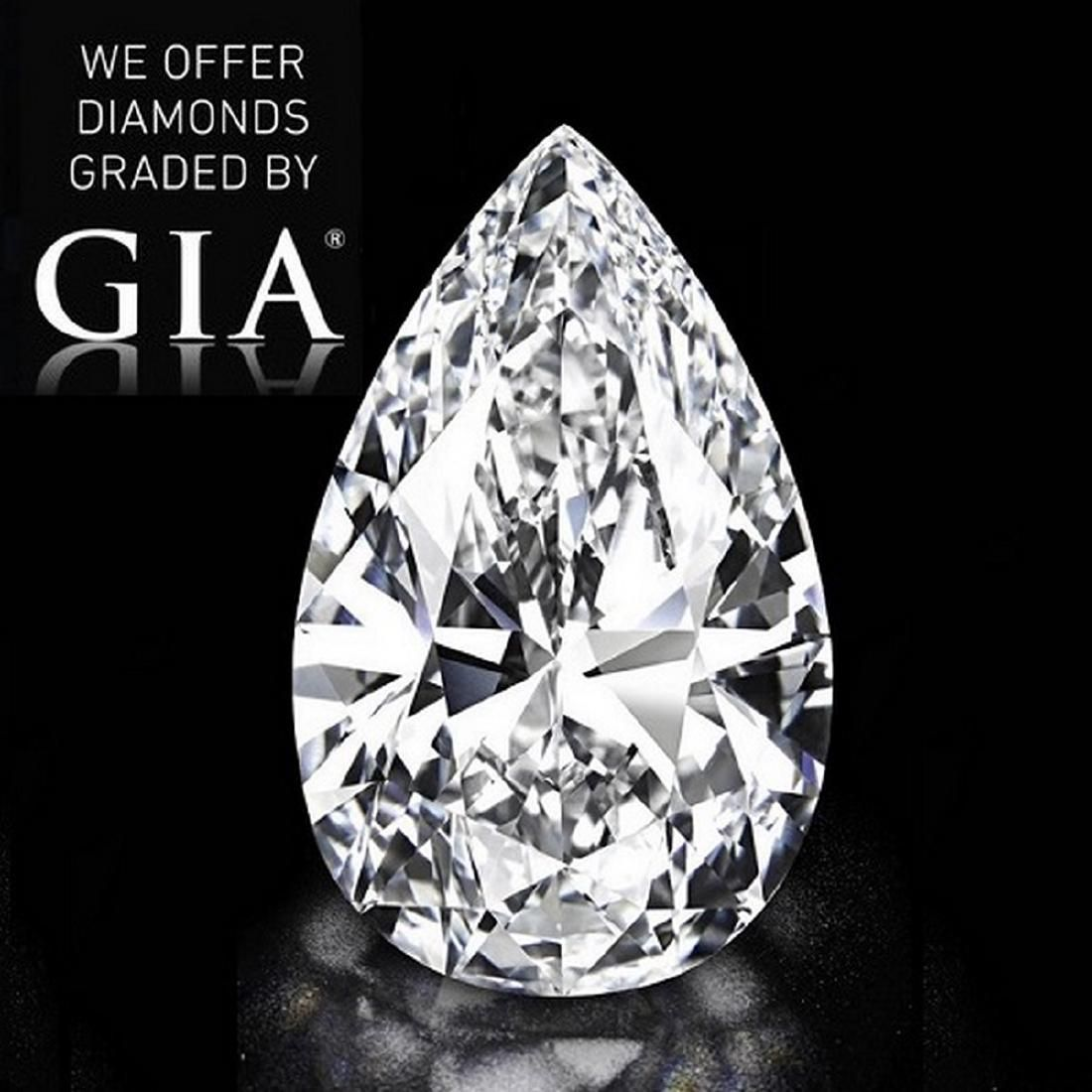 5.01 ct, Color F/VS2, Pear cut Diamond
