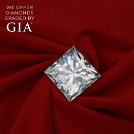 3.01 ct, Color E/VVS2, Princess cut Diamond