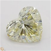 5.01 ct, Lt. Yellow/VS1, Heart cut Diamond