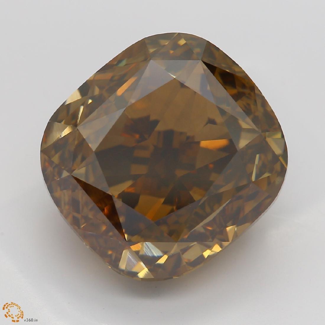 8.08 ct, Yellow Brown/VS1, Cushion cut Diamond