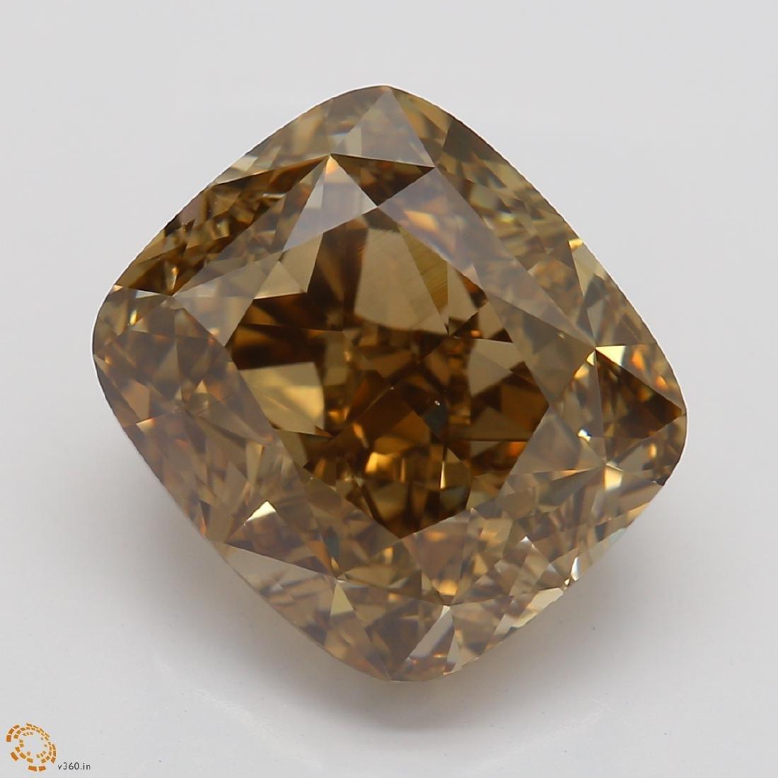 5.03 ct, Yellow Brown/VS1, Cushion cut Diamond