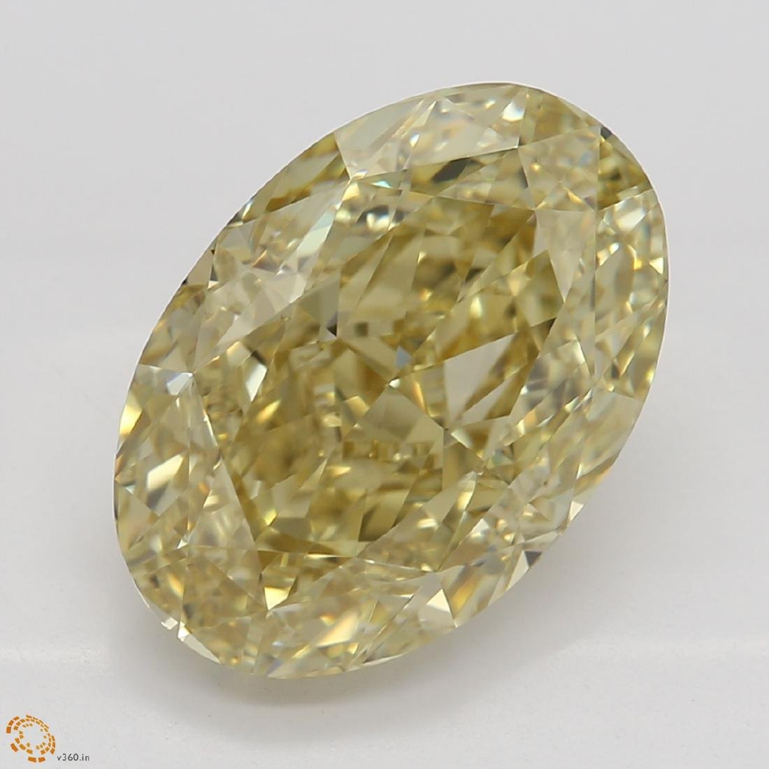 3.52 ct, Brown Yellow/IF, Oval cut Diamond