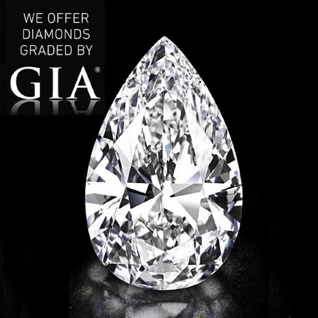 4.50 ct, Color F/VS2, Pear cut Diamond