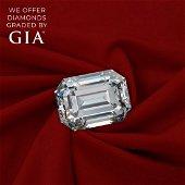5.27 ct, Color E/FL, Emerald cut Diamond