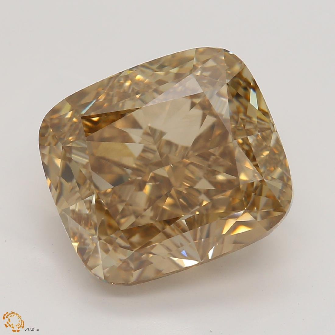 4.50 ct, Yellow Brown/VVS2, Cushion cut Diamond