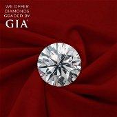1.00 ct, Color D/VVS1, Round cut Diamond