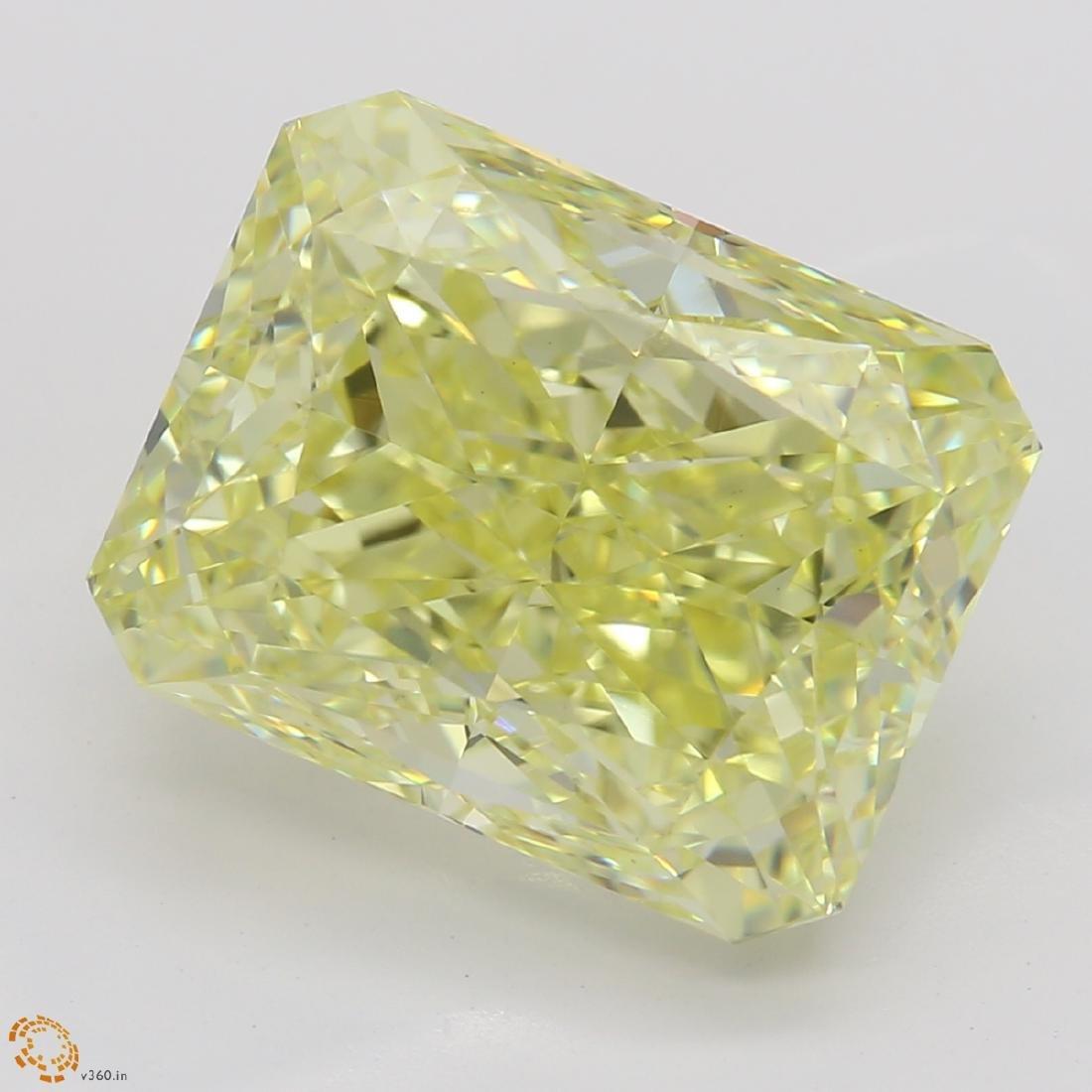 5.06 ct, Yellow/VS2, Radiant cut Diamond