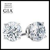 6.29 ct Round cut Diamond Pair