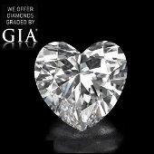 5.01 ct, Color D/VVS1, Heart cut Diamond