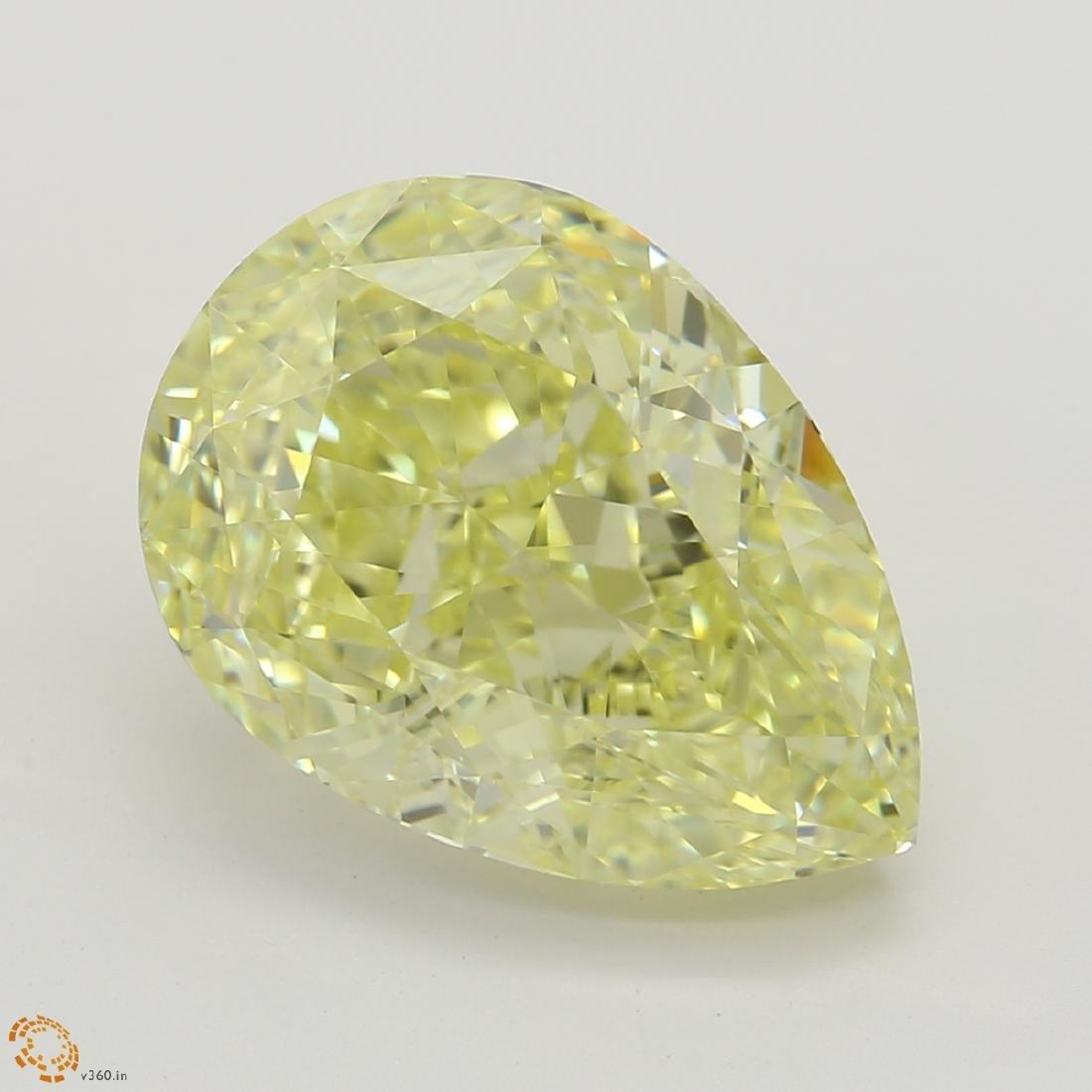 3.75 ct, Yellow/IF, Pear cut Diamond