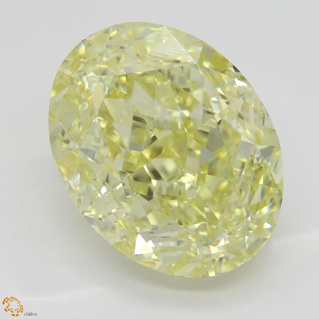8.56 ct, Yellow/VS2, Oval cut Diamond