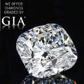 6.63 ct, Color F/VVS2, Cushion cut Diamond