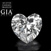 3.09 ct, Color D-FL, Heart cut Diamond