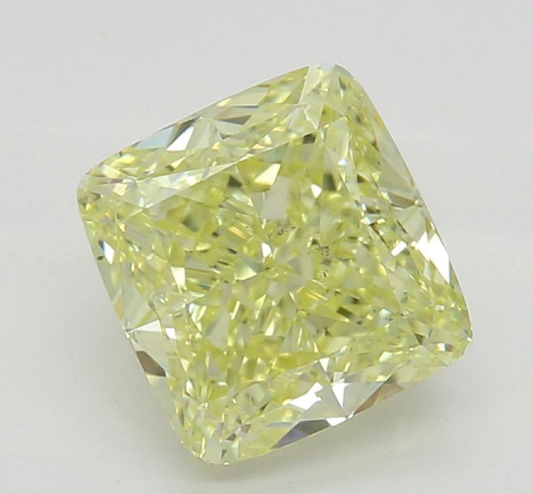 1.22 ct, Yellow-VS2, Cushion cut Diamond