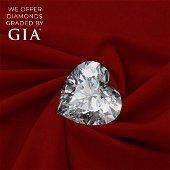 1.54 ct, Color I-VVS2, Heart cut Diamond