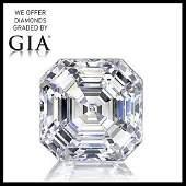 3.02 ct, Color D-VVS2, Sq. Emerald cut Diamond