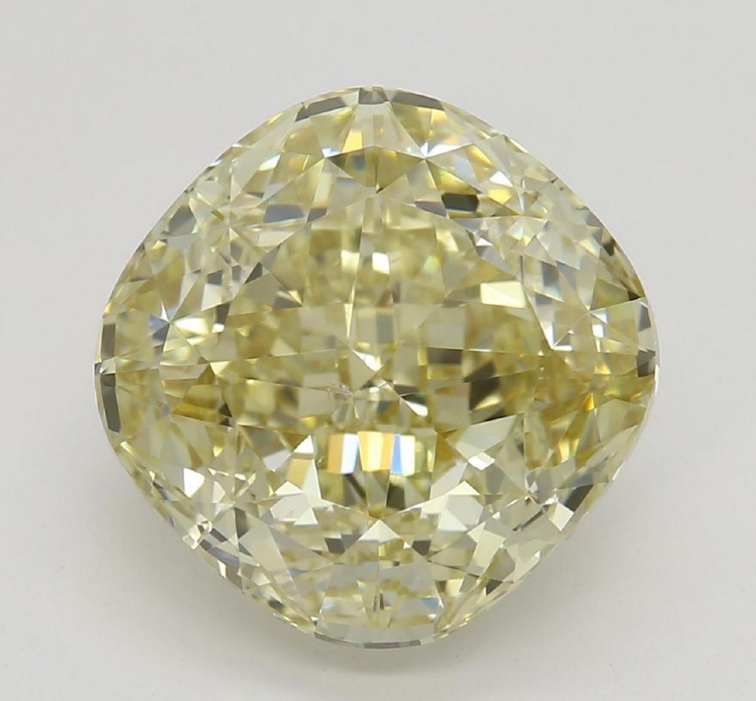 3.57 ct, Brown Yellow-VS2, Cushion cut Diamond
