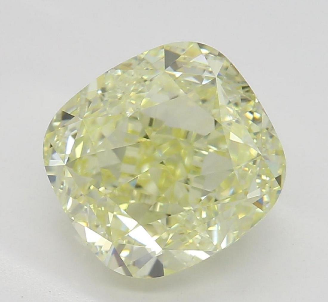 2.00 ct, Lt. Yellow-VS1, Cushion cut Diamond