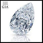 10.10 ct, Color D-VVS1, Pear cut Diamond