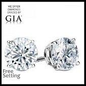 12.03 ct Round cut Diamond Pair (GIA Graded)