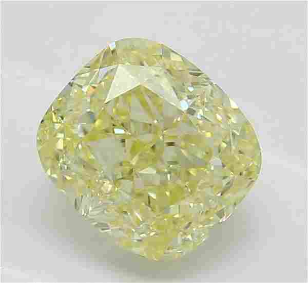 1.02 ct, Yellow/VS2, Cushion cut Diamond