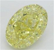 30.60 ct, Intense Yellow/SI2, Oval cut Diamond