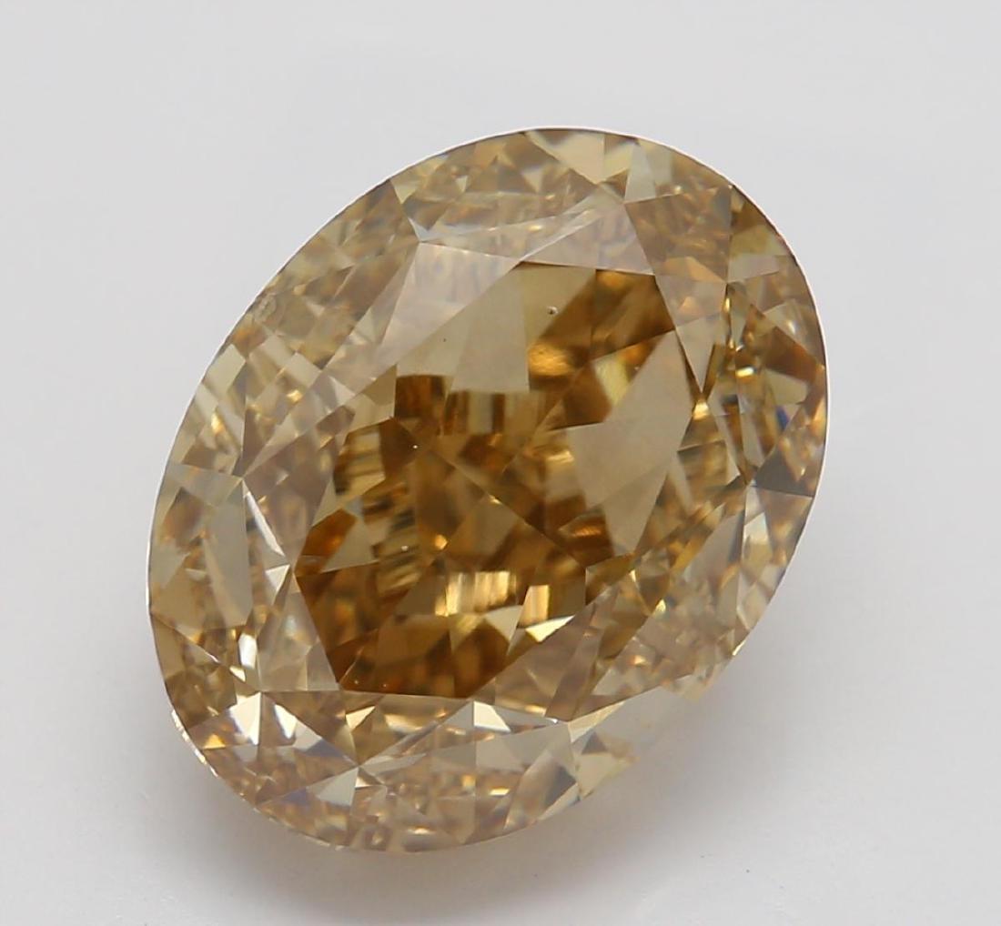 3.52 ct, Yellow Brown/VS2, Oval cut Diamond