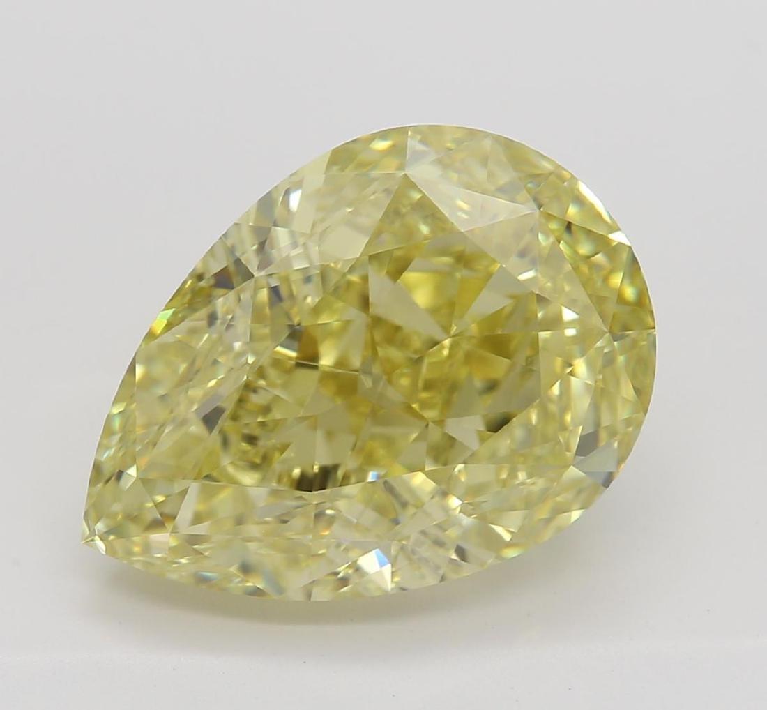 4.31 ct, Yellow/VS2, Pear cut Diamond