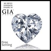 5.18 ct, Color D/VS1 , Heart cut Diamond