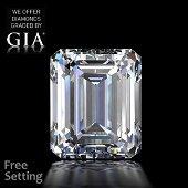 7.03 ct, Color D/VVS2 , Emerald cut Diamond