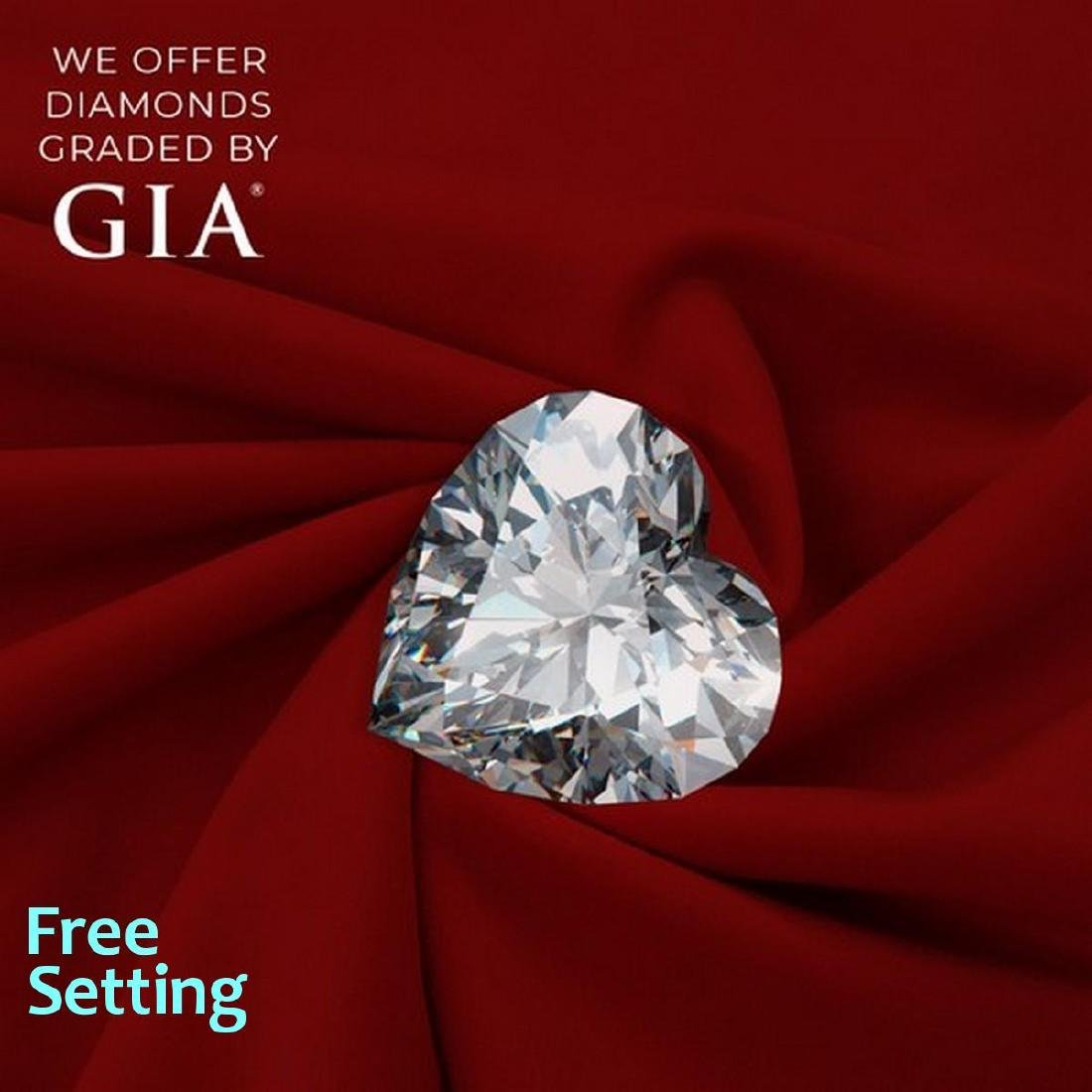 1.01 ct, Color H/IF, Heart cut Diamond