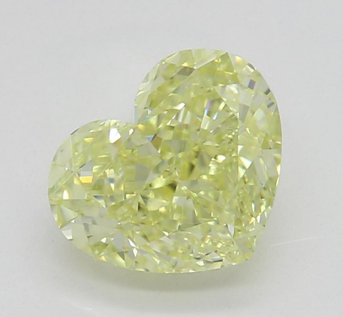 1.12 ct, Lt. Yellow/VVS1, Heart cut Diamond