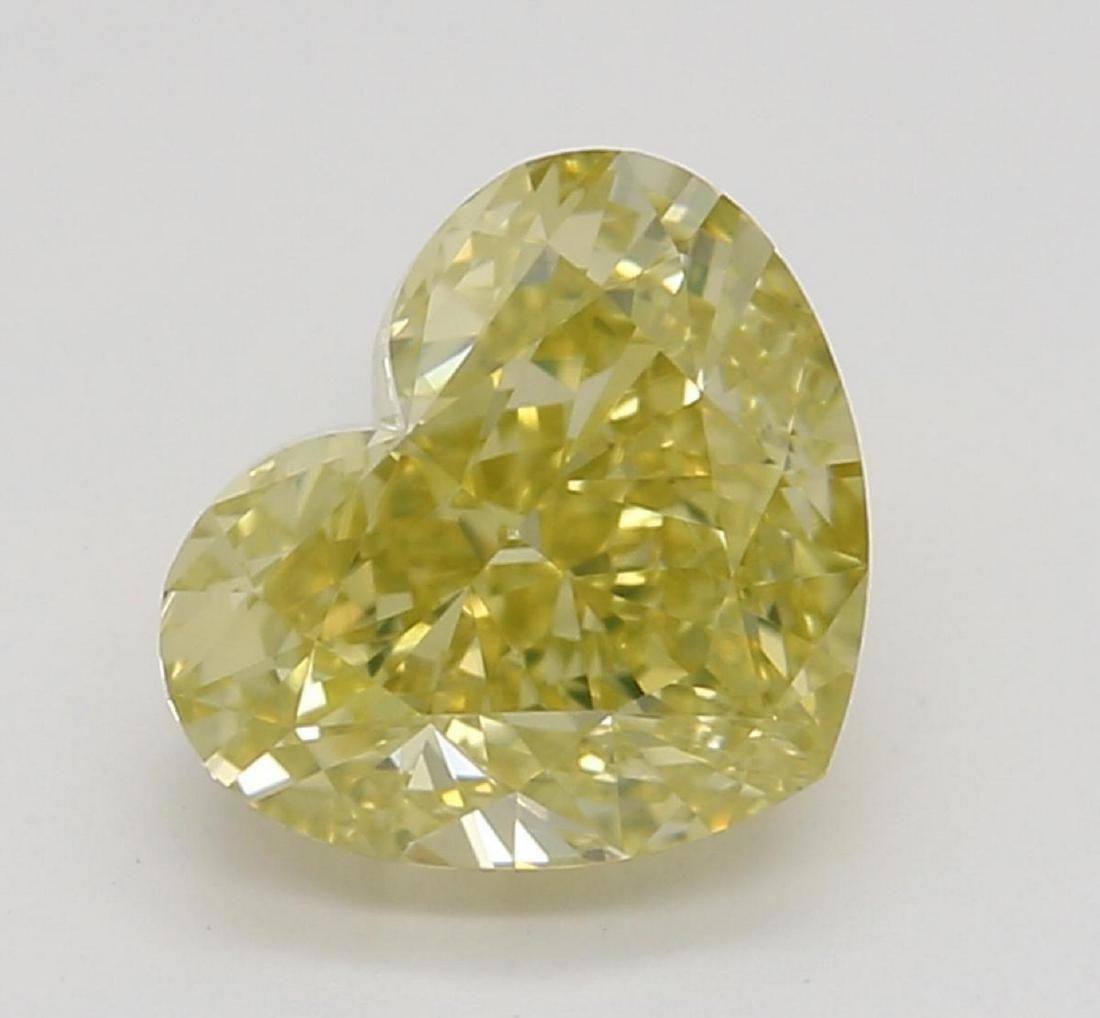 104 ct YellowVVS1 Heart cut Diamond