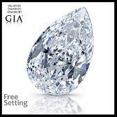 3.01 ct, Color F/VVS1, Pear cut Diamond