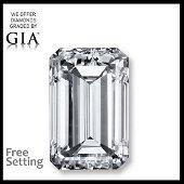 5.04 ct, Color G/VS1, Emerald cut Diamond