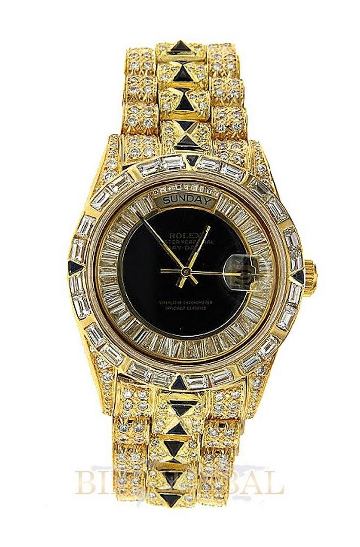 Gold Diamond Rolex Day Date Diamond Watch.