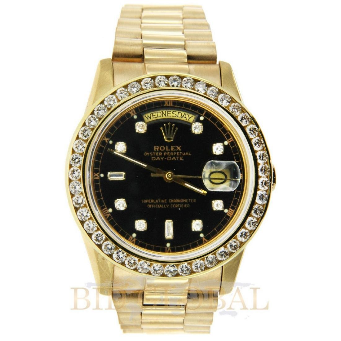 Rolex Day Date Gold Diamond Watch.