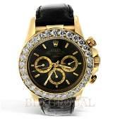 Gold Rolex Daytona Diamond Watch