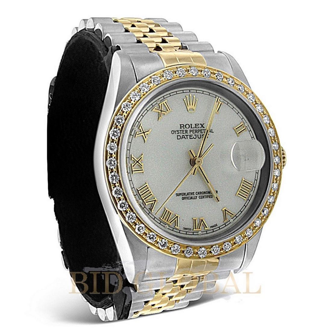Two Tone Datejust Rolex Diamond Watch. - 2
