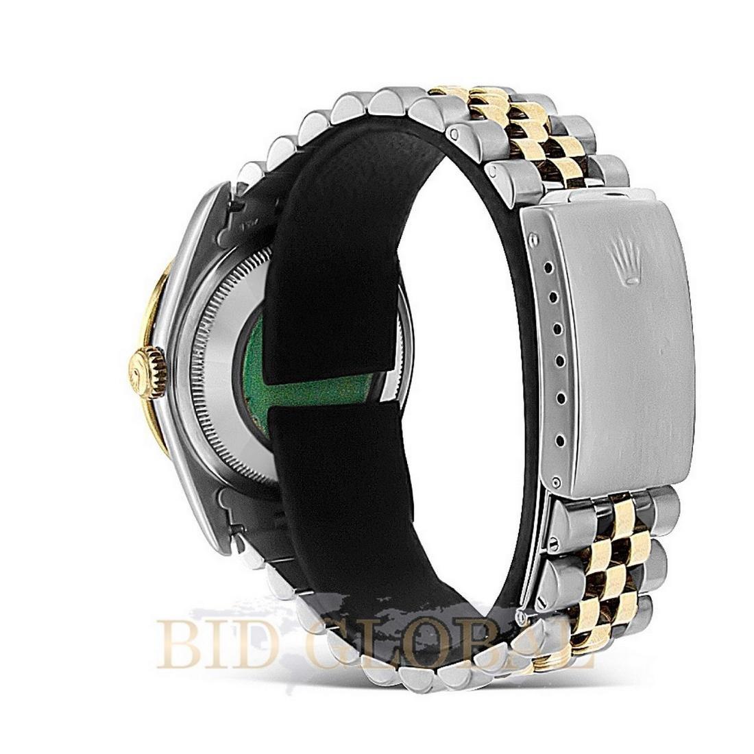 Two Tone Datejust Rolex Diamond Watch. - 3
