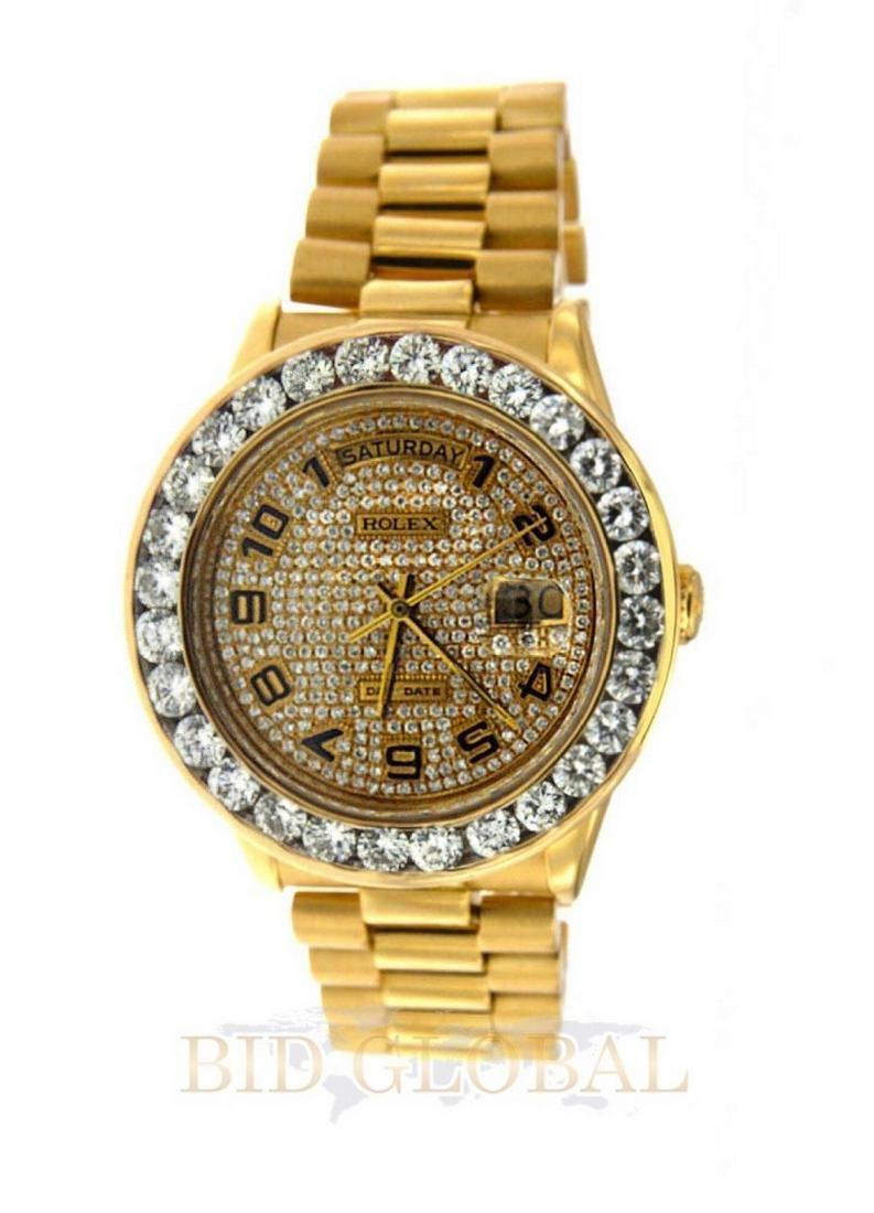 Gold Rolex Day Date Diamond Watch.
