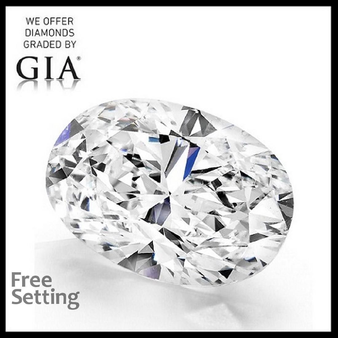 4.02 ct, Color F/VVS2, Oval cut Diamond