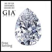 5.18 ct, Color E/VVS1, Pear cut Diamond