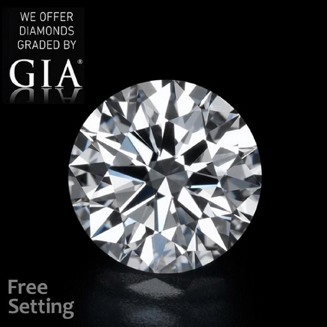 3.02 ct, Color G/VVS1, Round cut Diamond