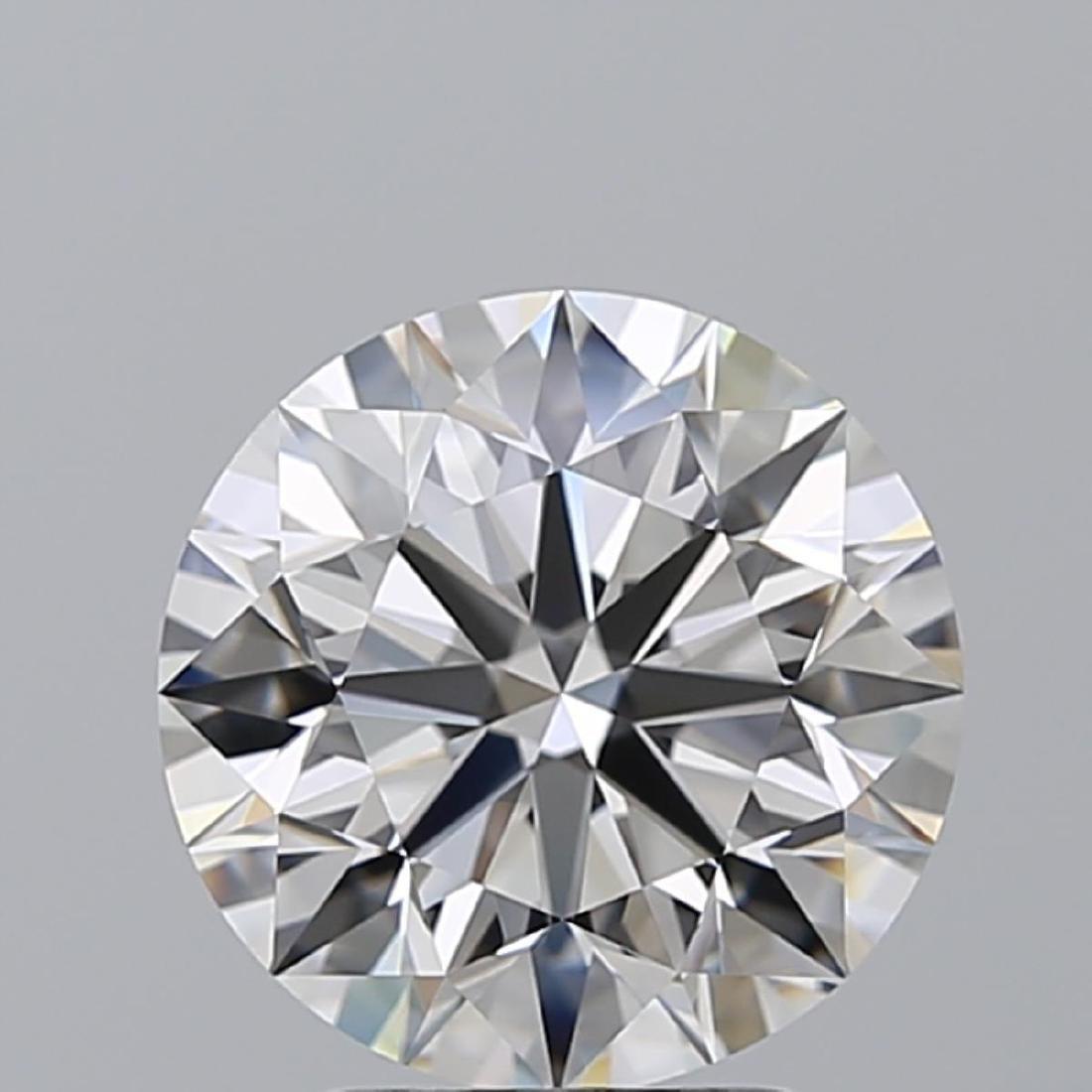 3.02 ct, Color G/VVS1, Round cut Diamond - 2