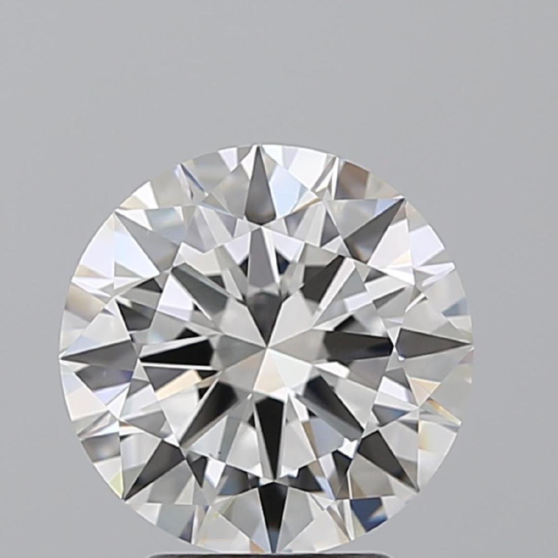 3.01 ct, Color G/VS1, Round cut Diamond - 2