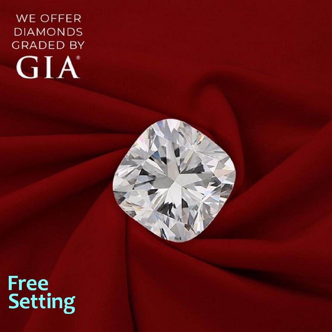 2.60 ct, Color D/VVS2, Cushion cut Diamond