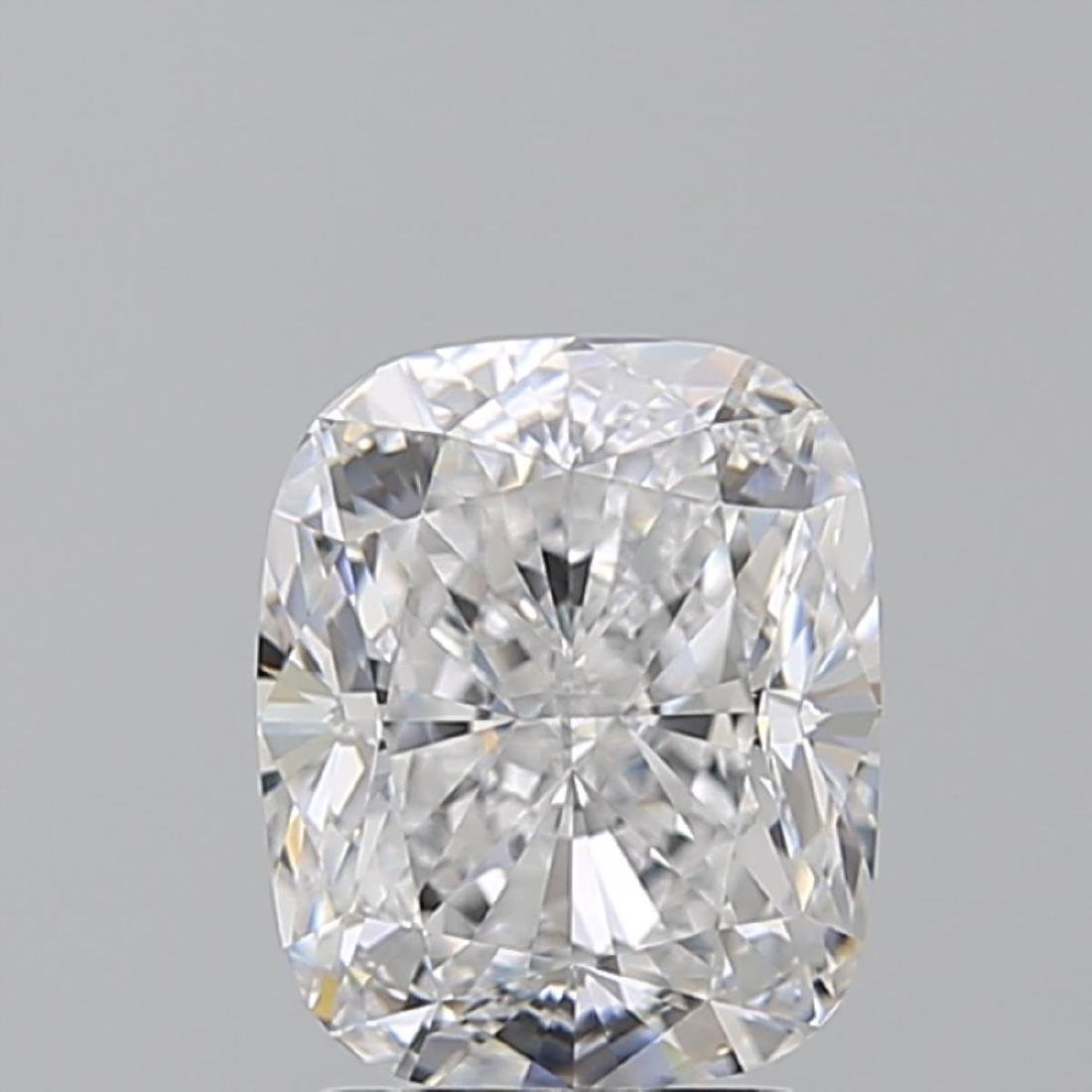 2.60 ct, Color D/VVS2, Cushion cut Diamond - 2