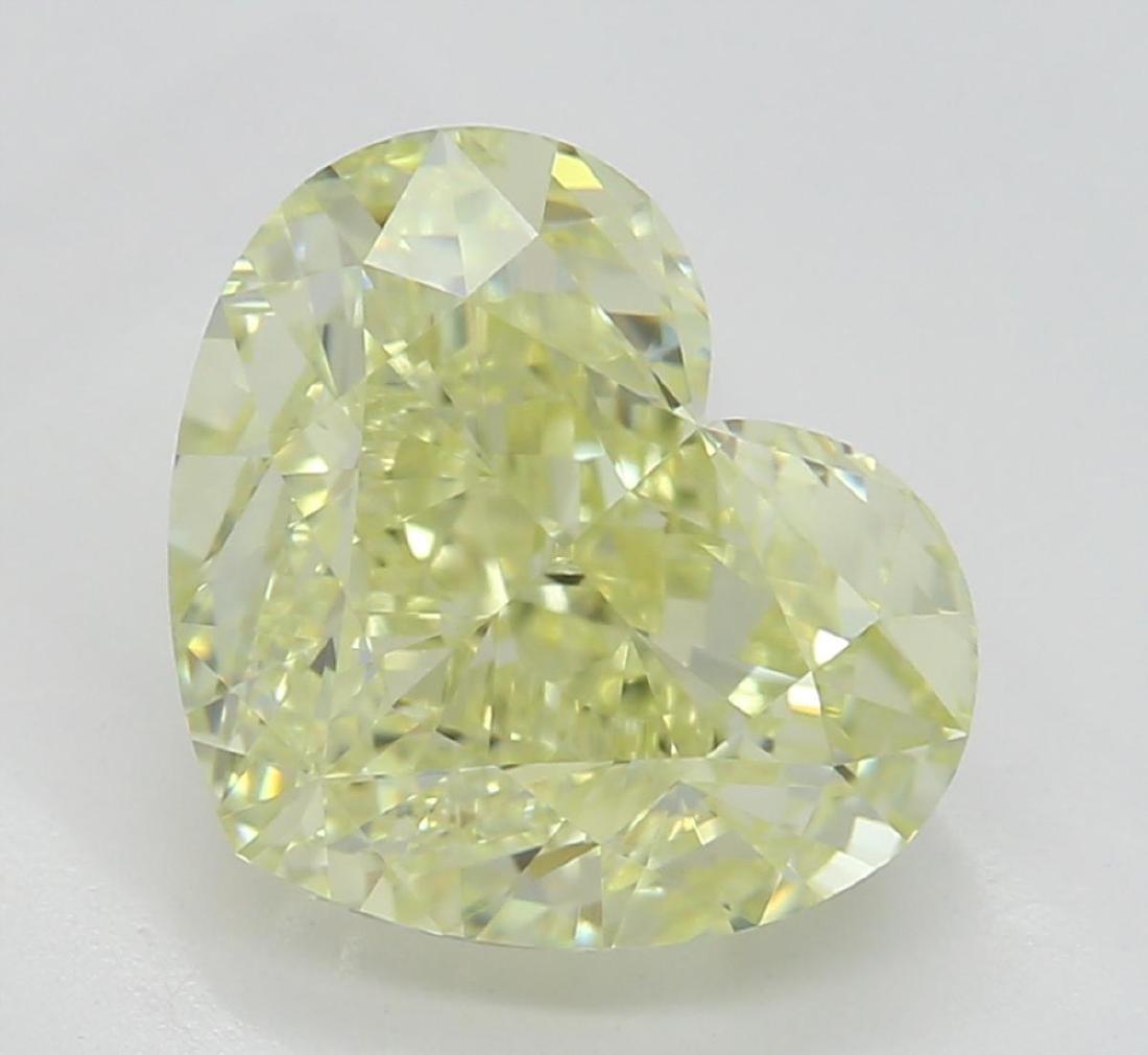 2.25 ct, Lt. Yellow/VVS2, Heart cut Diamond