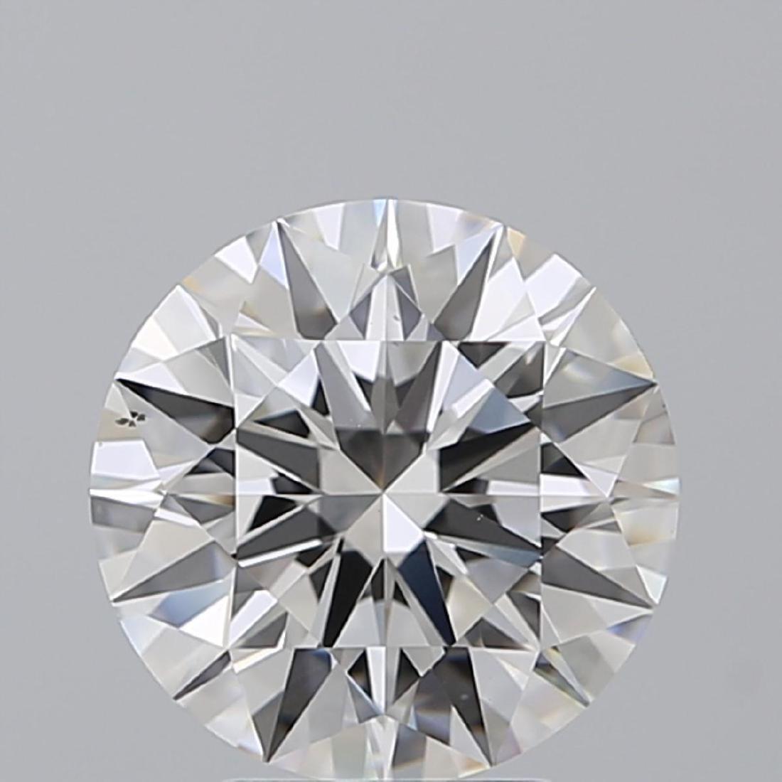 3.23 ct, Color G/VS2, Round cut Diamond - 2